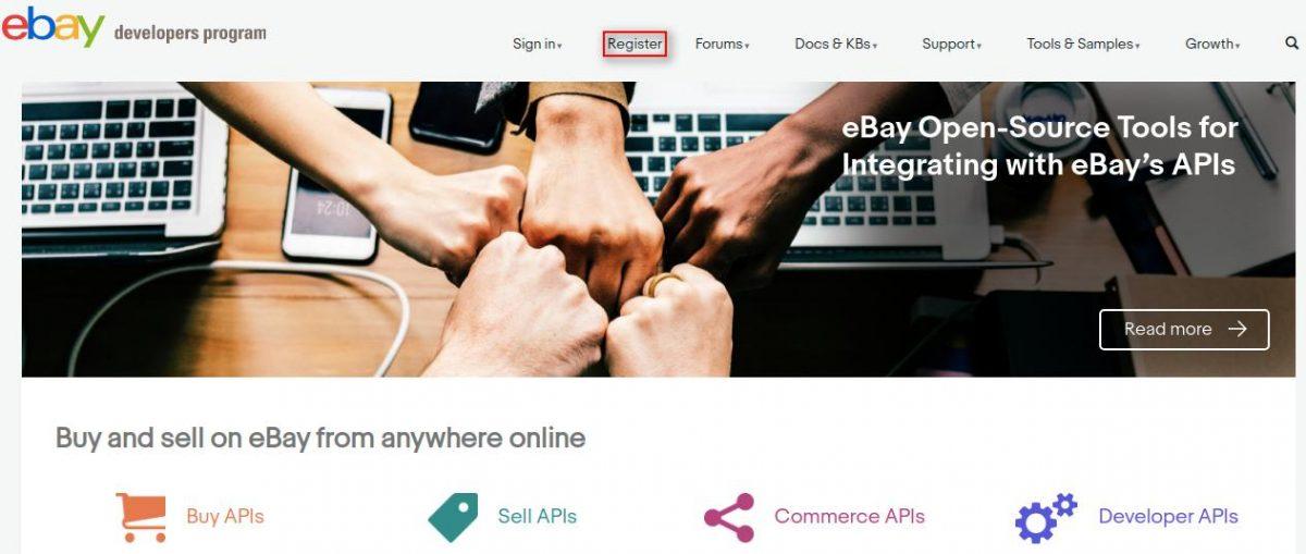 account creation on eBay