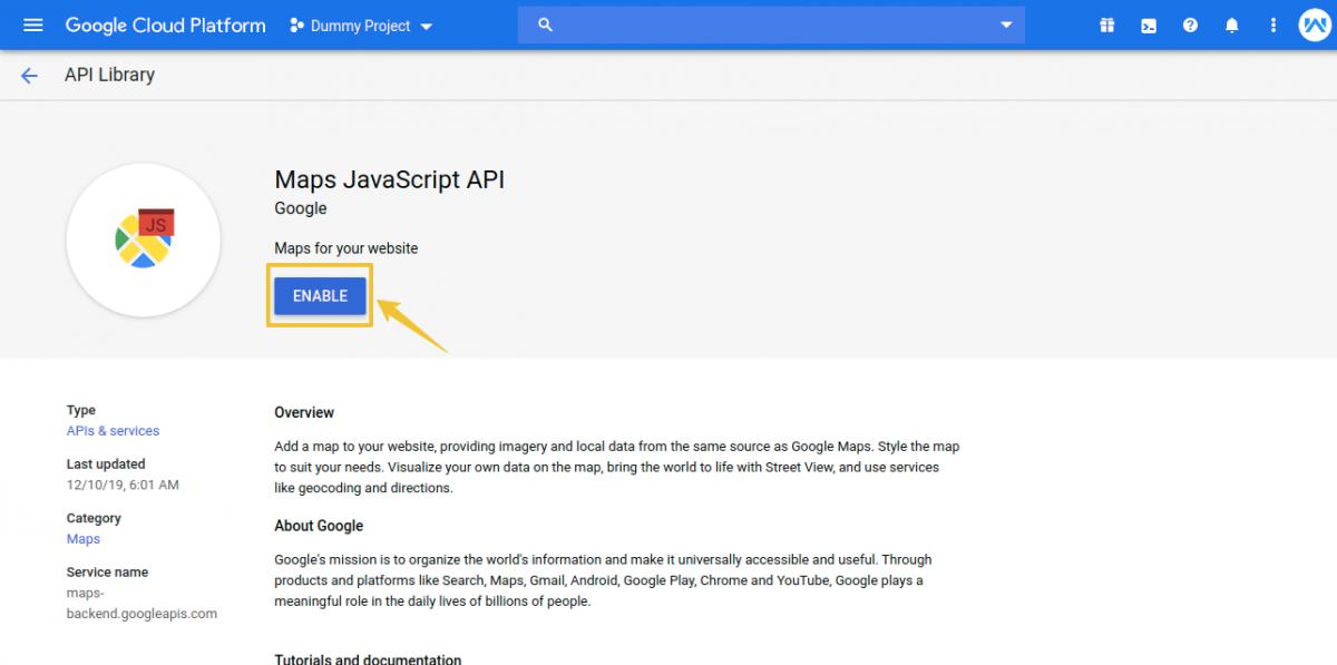APIs-Services-Dummy-Project-Google-Cloud-Platform