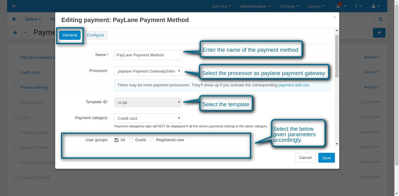 new payment method configuration image