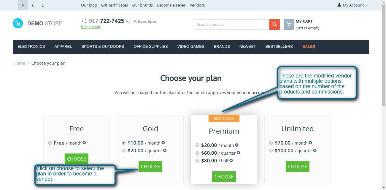 Choose your plan