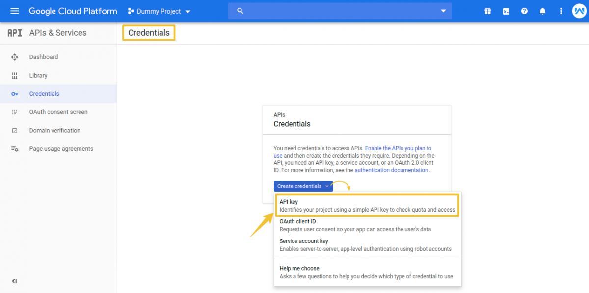 Credentials-Dummy-Project-Google-Cloud-Platform