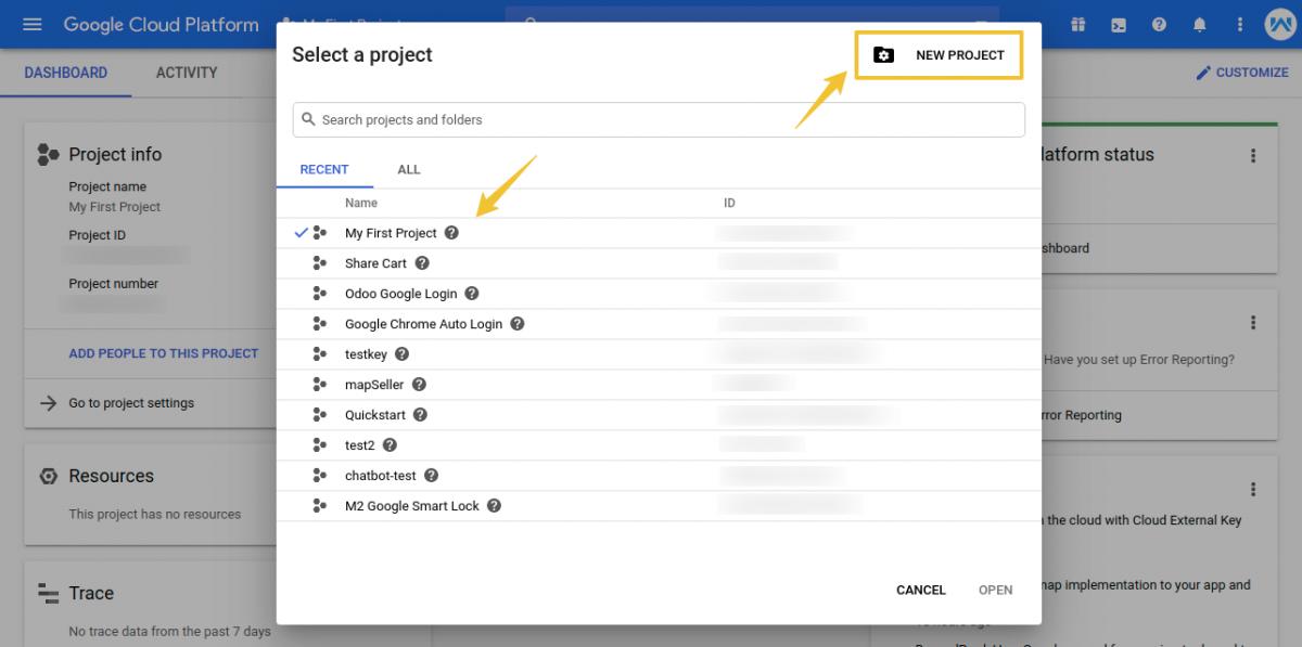 Home-–-My-First-Project-–-Google-Cloud-Platform-1