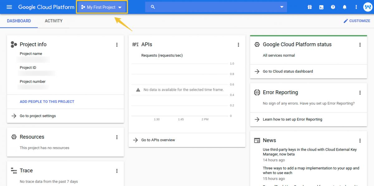 Home-–-My-First-Project-–-Google-Cloud-Platform