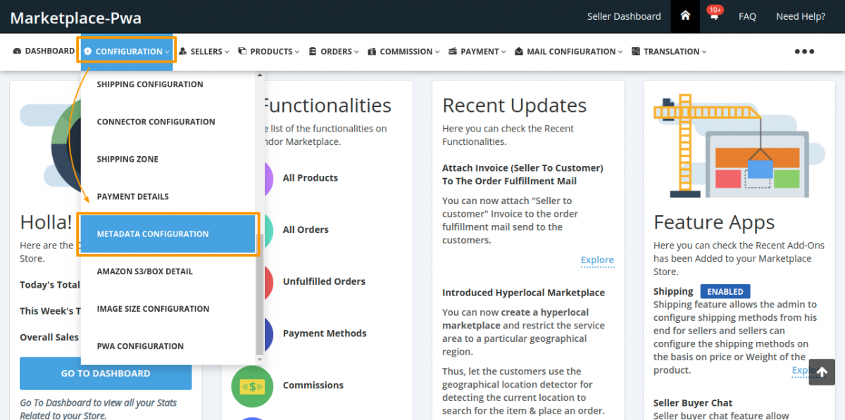 MultiVendor Marketplace Admin Panel