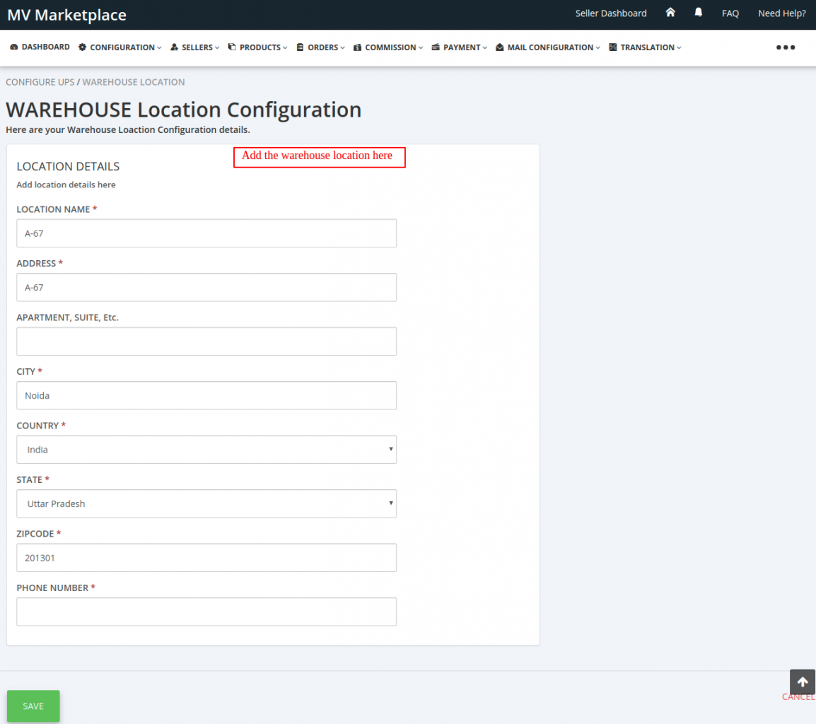 UPS-Configuration-Admin