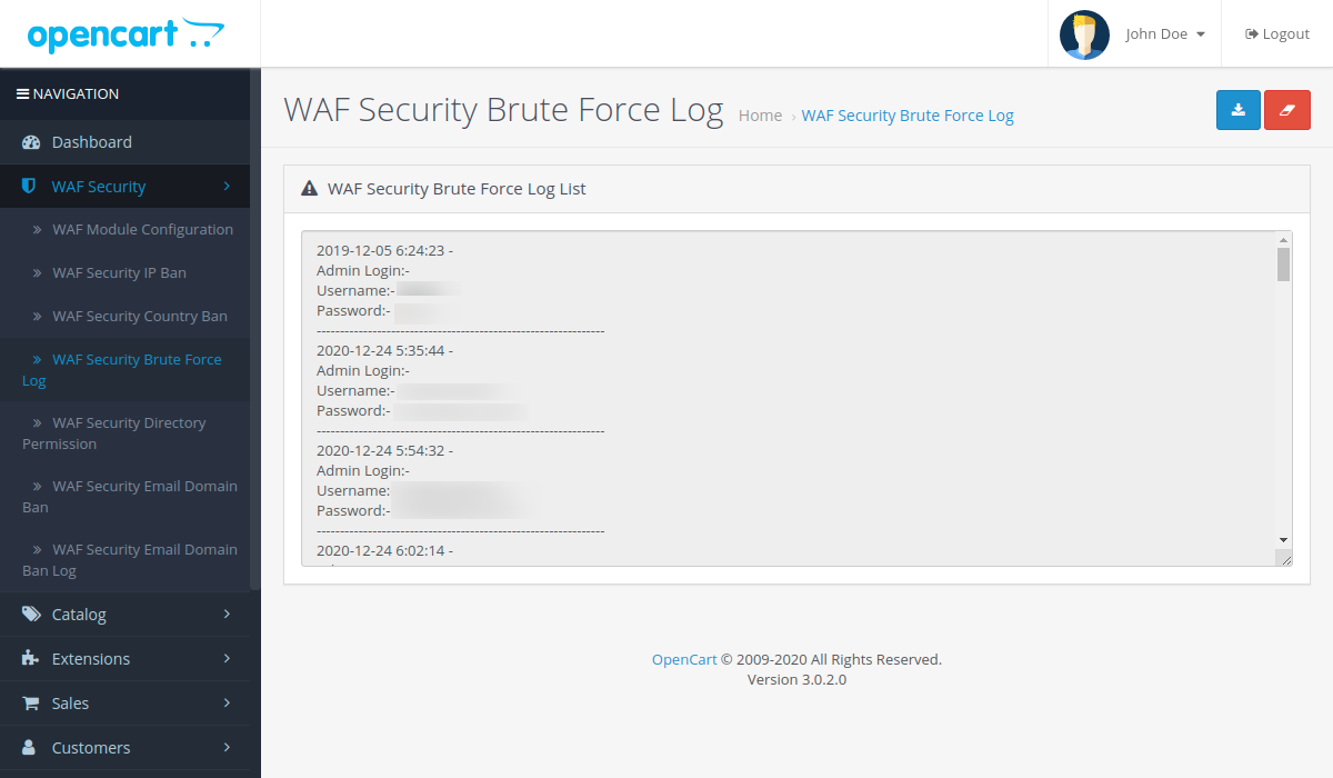 WAF-Security-Brute-Force-Log