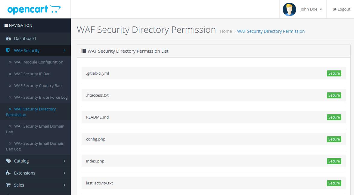 WAF-Security-Directory-Permission