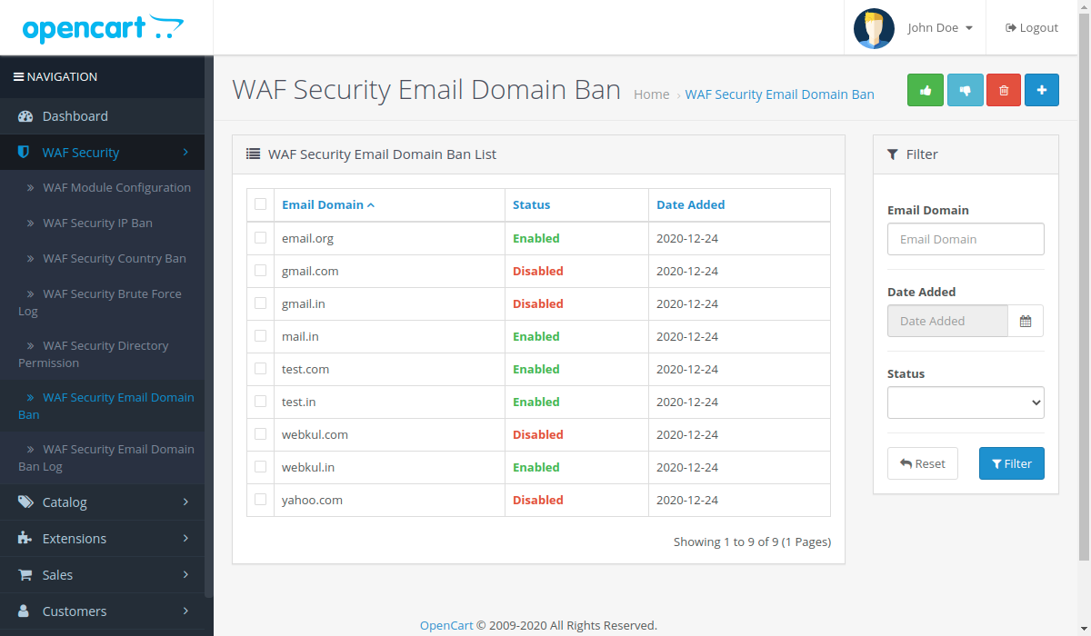WAF-Security-Email-Domain-Ban