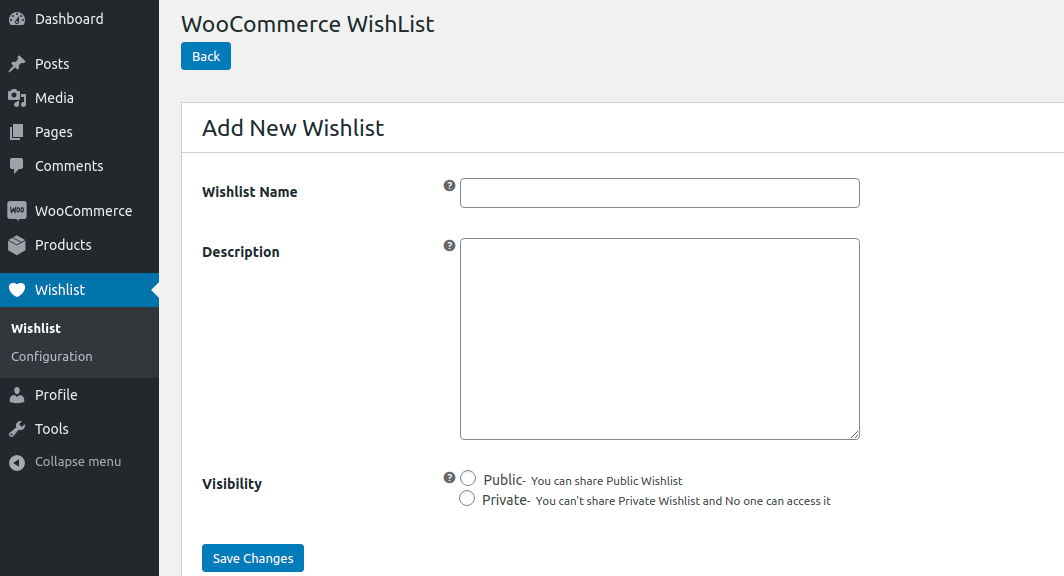 Webkul.woocommerce-multiple-wishlist-admin-new-wislist