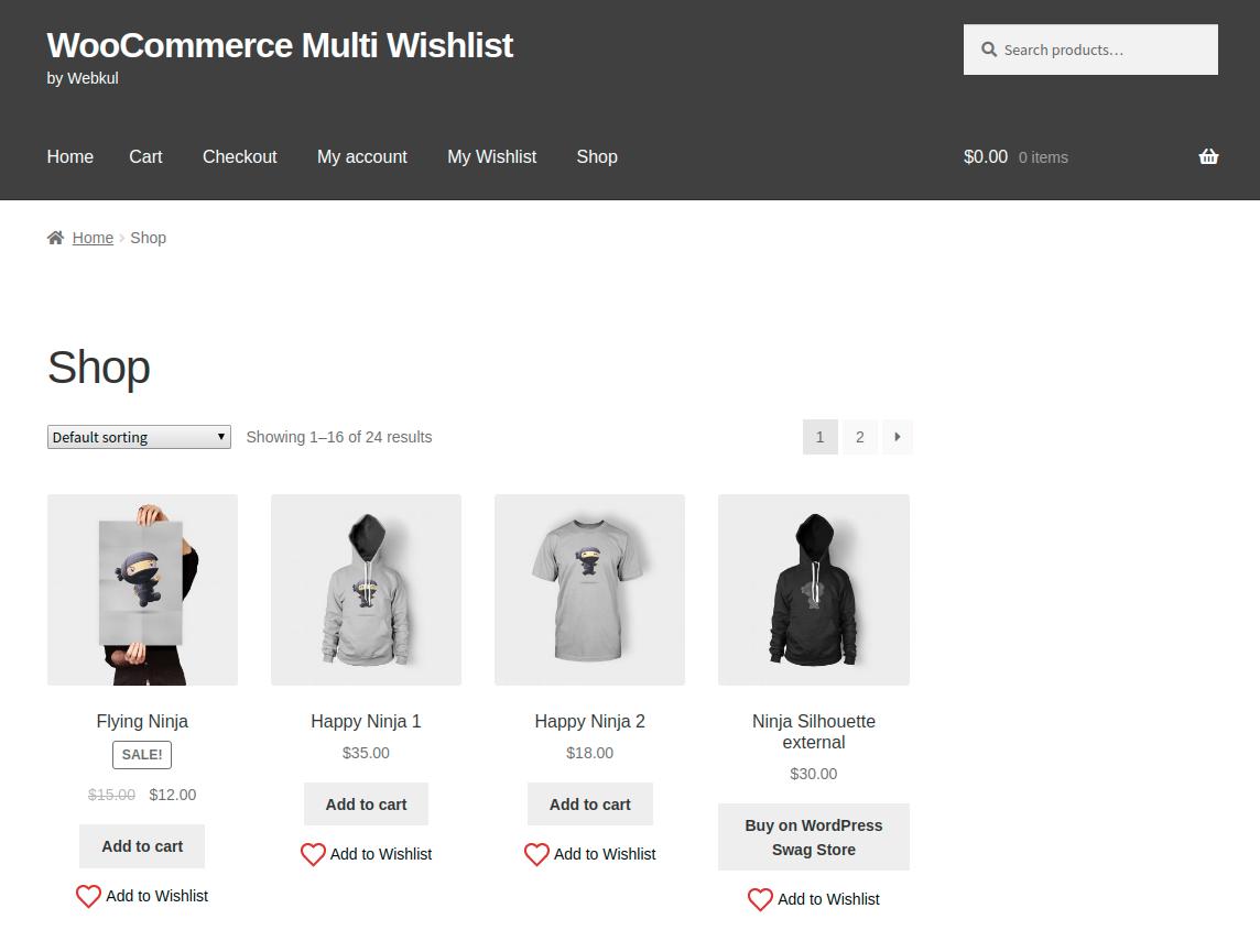 Webkul.woocommerce-multiple-wishlist-category-page