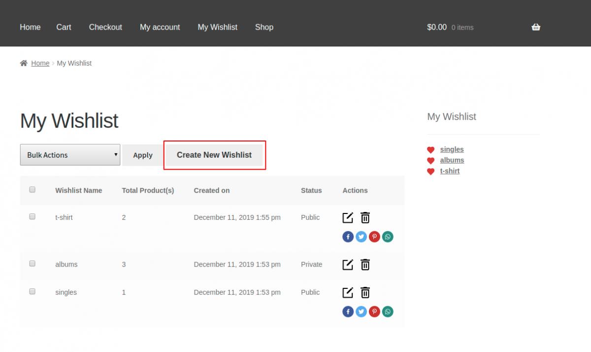 Webkul.woocommerce-multiple-wishlist-customer-create-wishlist