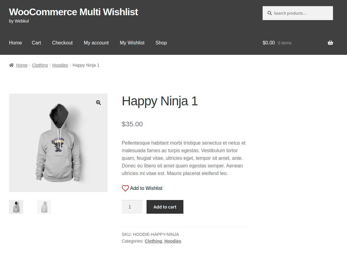 Webkul.woocommerce-multiple-wishlist-product-page