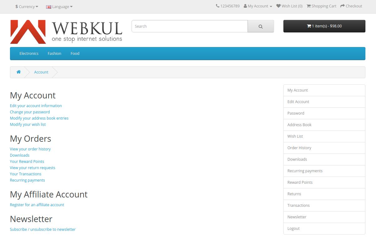 webkul-opencart-web-application-firewall-security-my-account