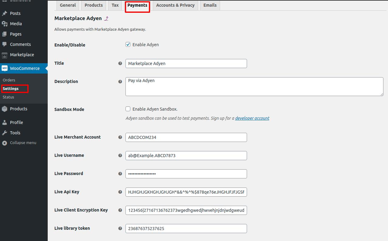 webkul_WooCommerce_Marketplace-Adyen-Payment_admin-configuration-live