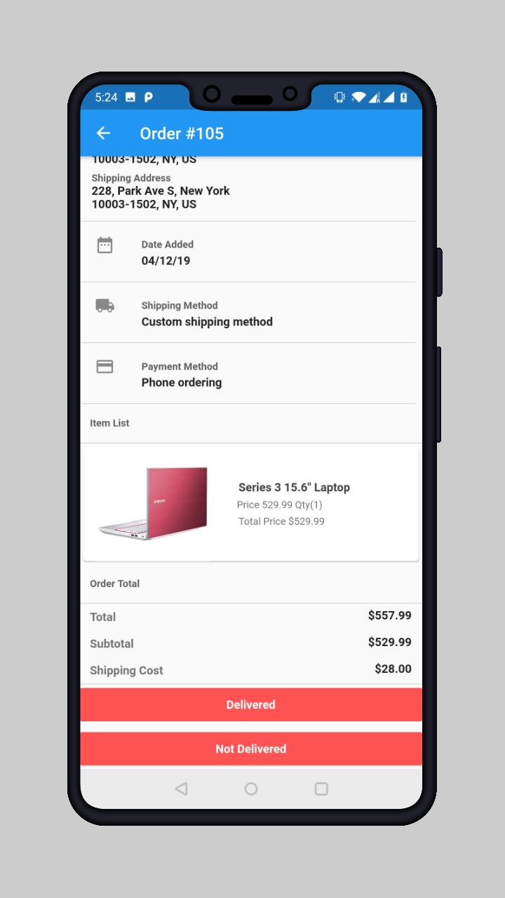 webkul_cs-cart-delivery-boy-app_delivered_not_delivered-order
