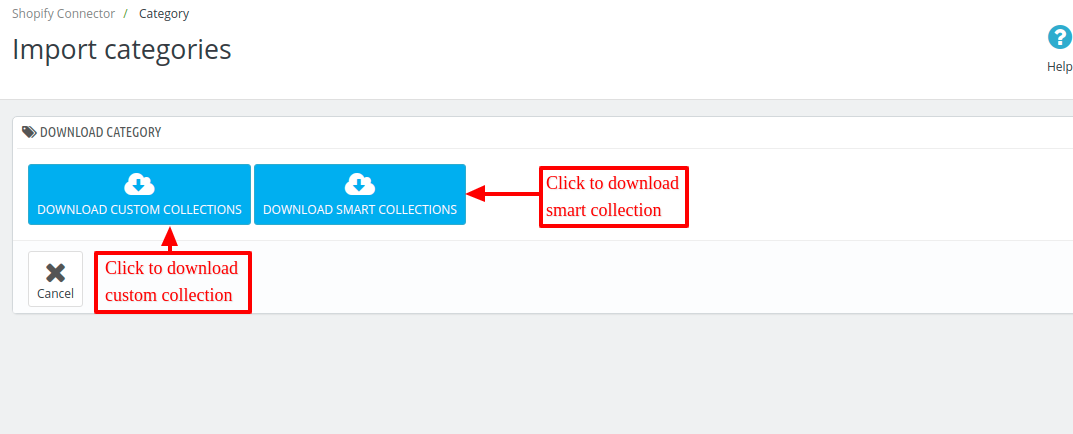 Select a way to import category