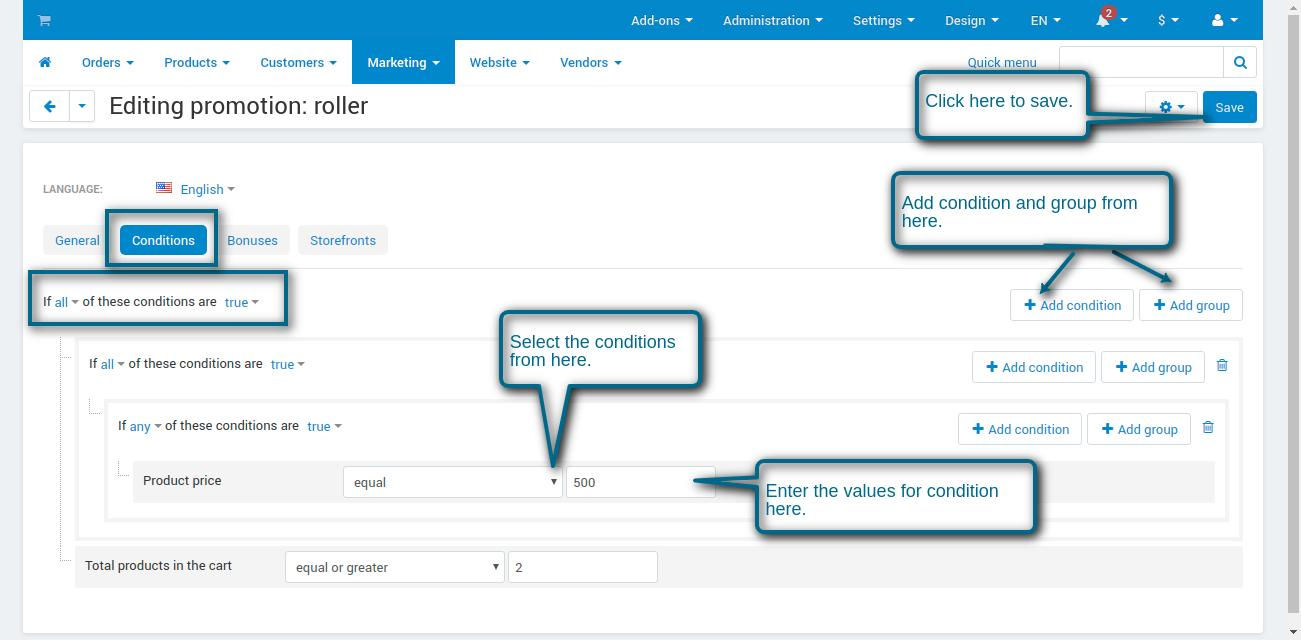 Manage-add-ons-Administration-panel-game creation - conditions