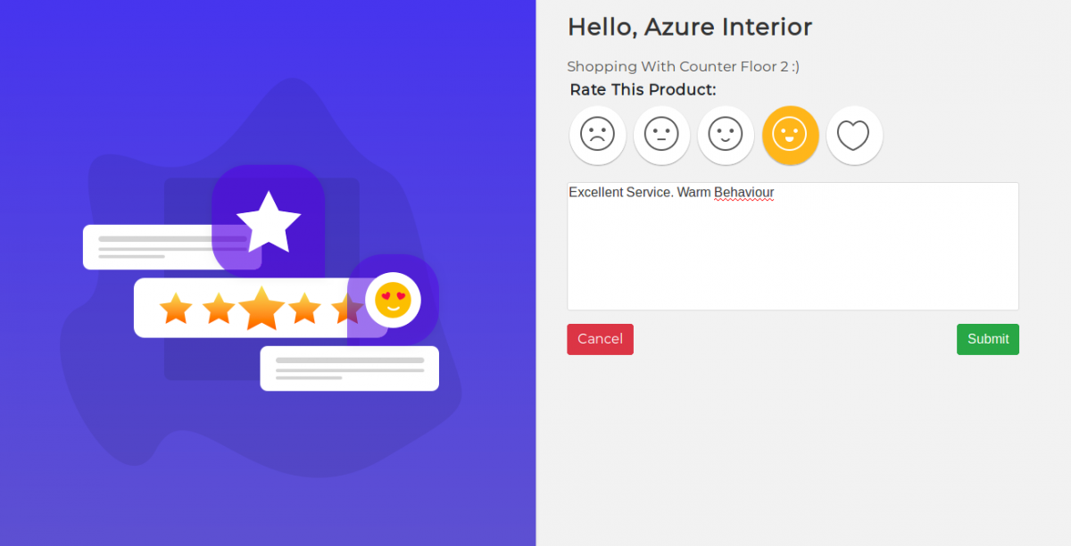 Launch POS Customer Review Screen 2