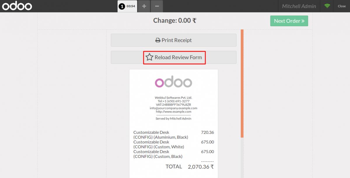 Launch POS Customer Review Screen 3