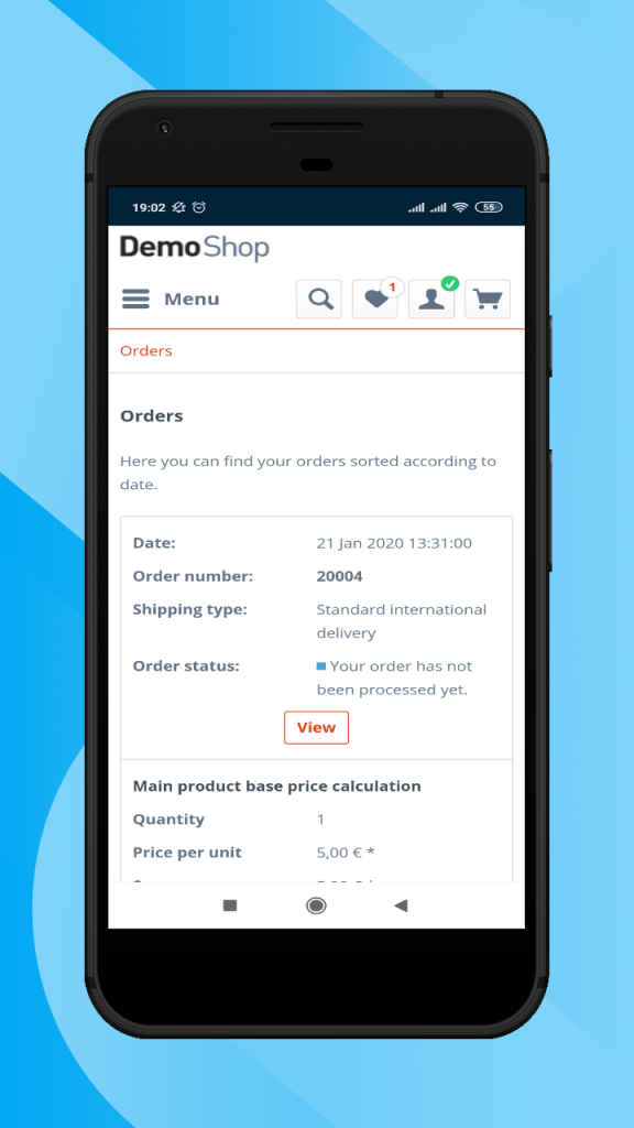 Shopware-hybrid-mobile-app-orders