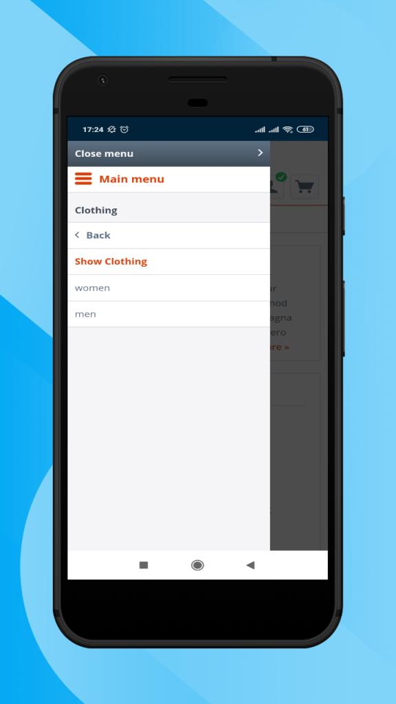 Shopware-hybrid-mobile-app-shop-by-category