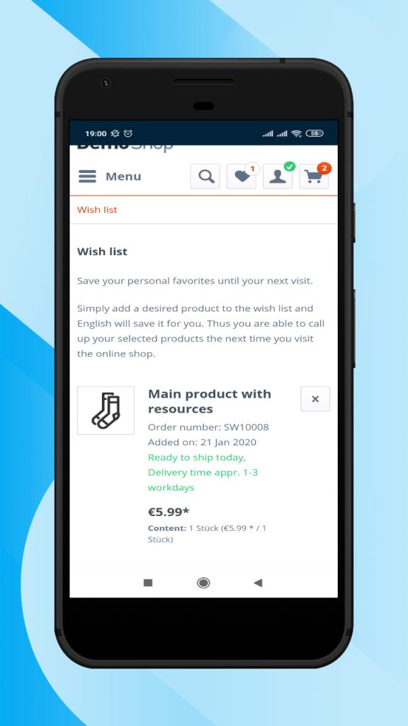 Shopware-hybrid-mobile-app-wishlist