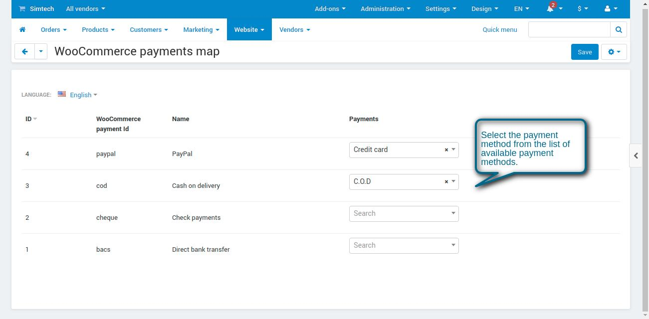 action performed-payments import