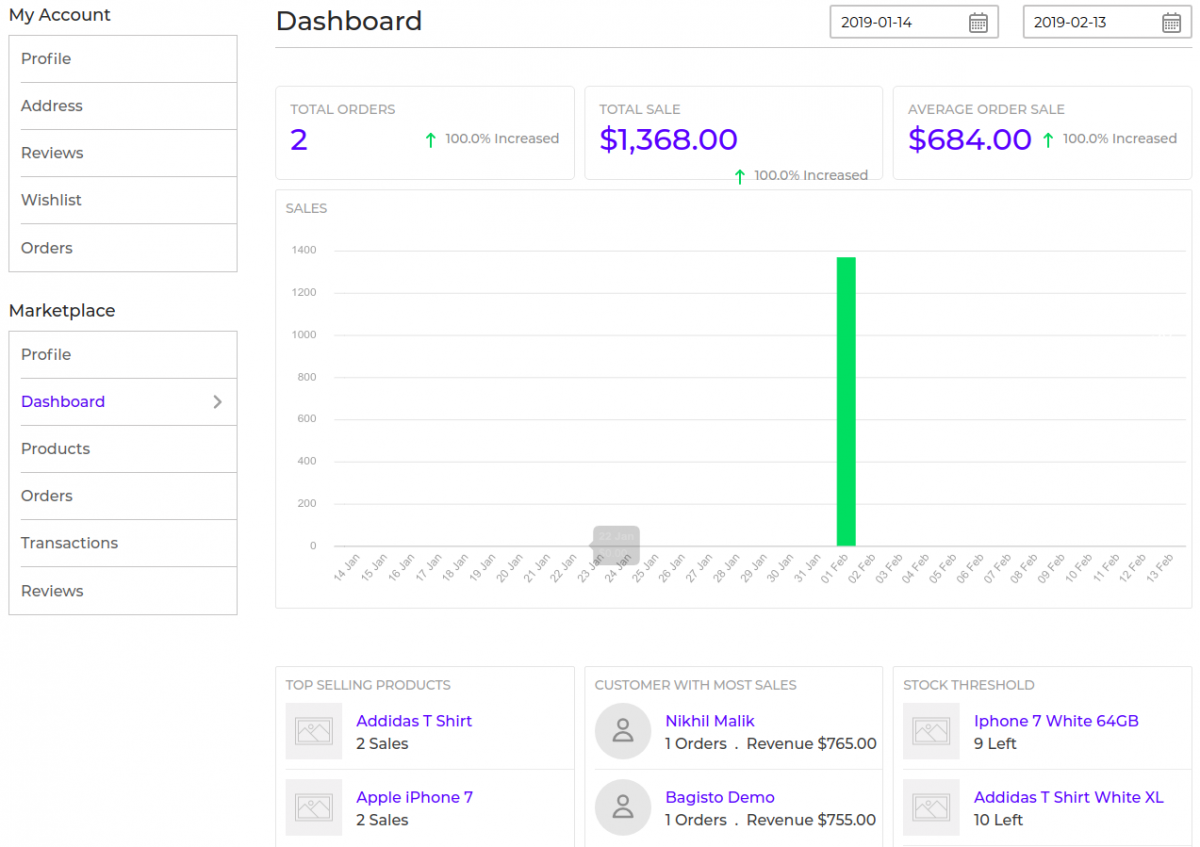 laravel-marketplace-SAAS-seller-dashboard-profile