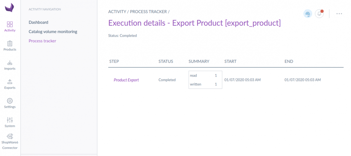 product-execution-details