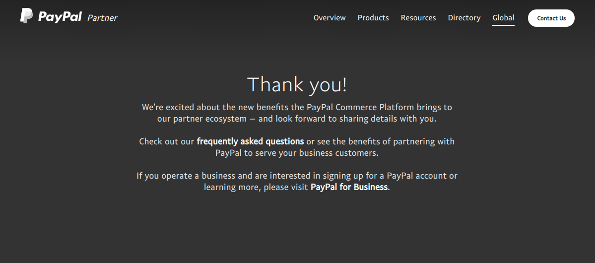 PayPal - success-message-paypal