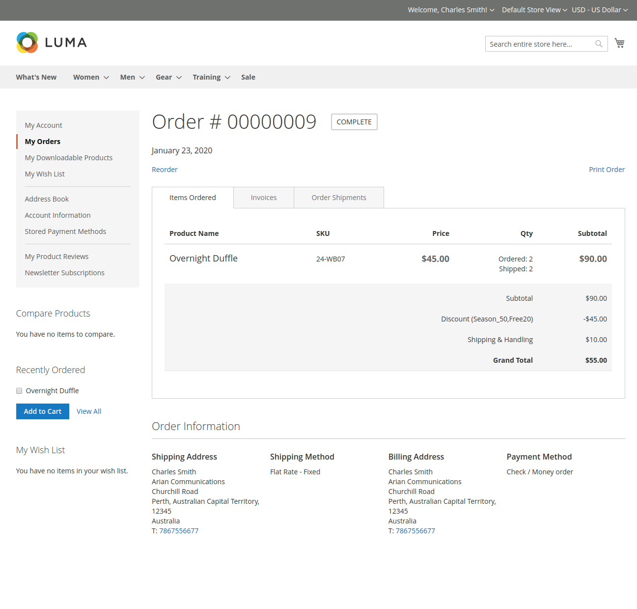 webkul-magento2-multiple-coupon-codes-customer-order-view