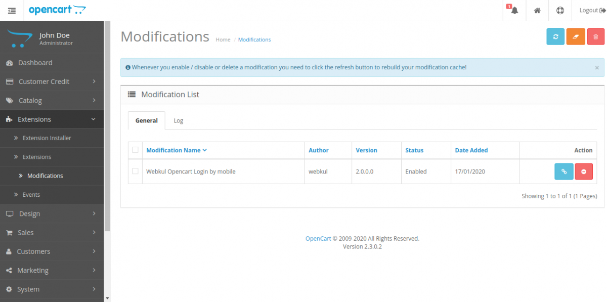 webkul-opencart-login-by-mobile-extension-modifications