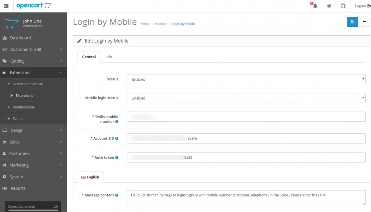 webkul-opencart-login-by-mobile-extensions-general-edit