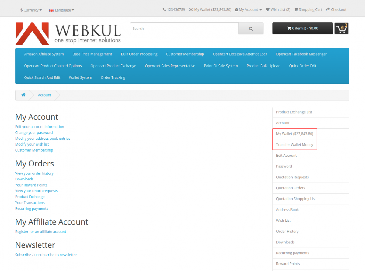 webkul-opencart-wallet-system-options-for-registered-customers