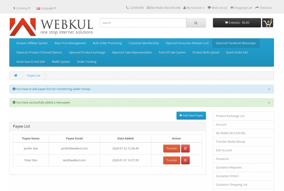webkul-opencart-wallet-system-payee-added-in-list