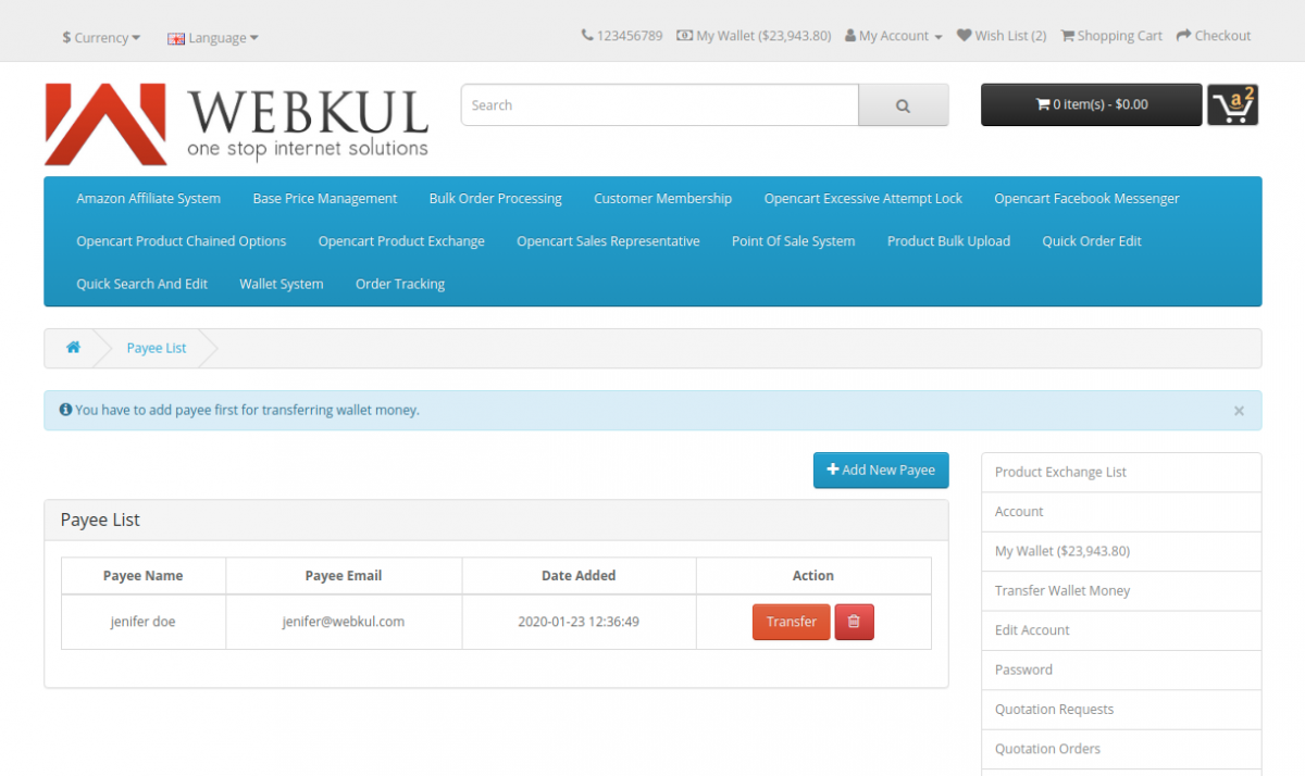 webkul-opencart-wallet-system-payee-list-1