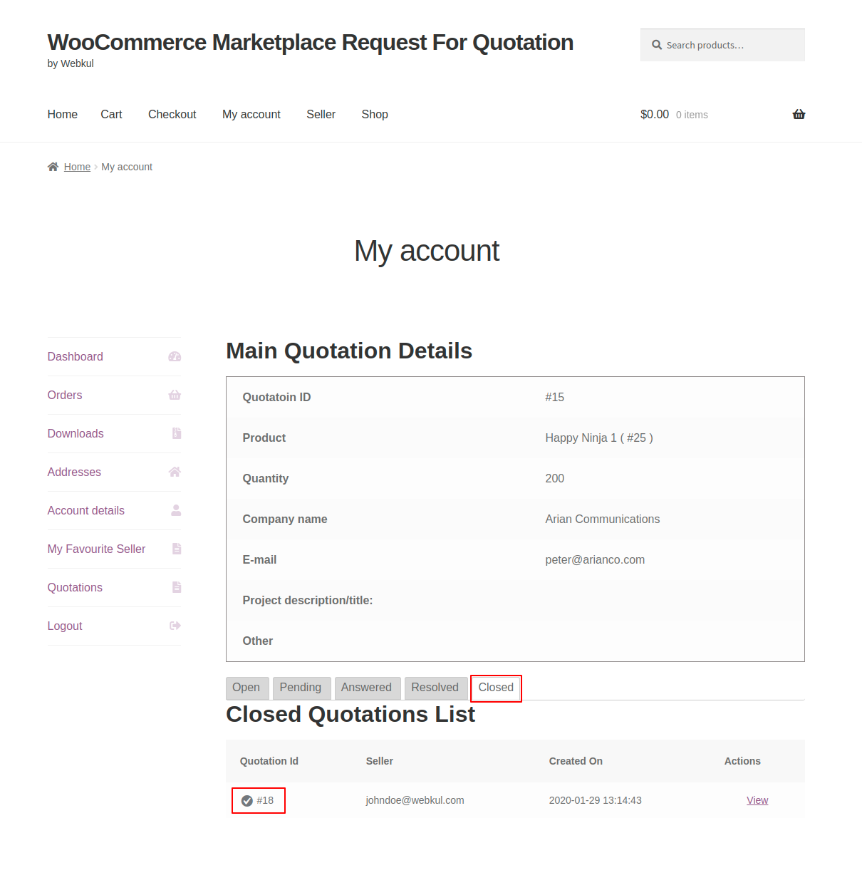 webkul-woocommerce-marketplace-request-for-quotation-customer-end-closed-quotation-list