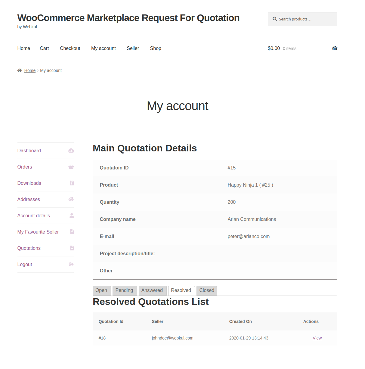 webkul-woocommerce-marketplace-request-for-quotation-customer-end-quote-listed-under-resolved