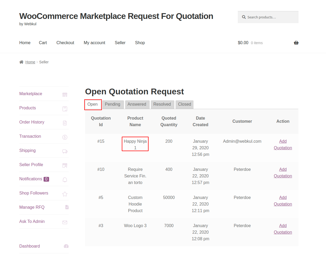 webkul-woocommerce-marketplace-request-for-quotation-seller-end-quote-listed-under-open-tab-1