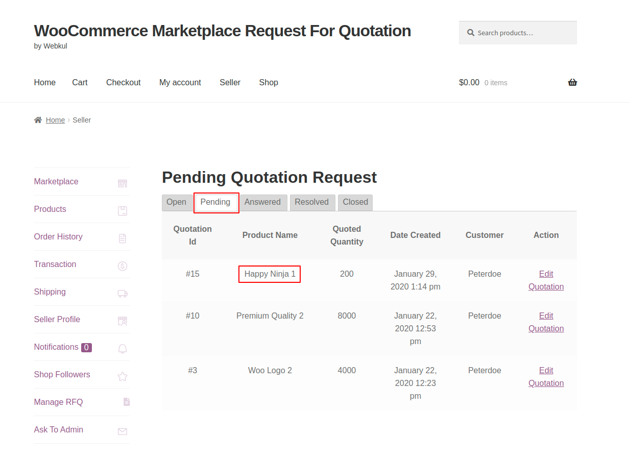 webkul-woocommerce-marketplace-request-for-quotation-seller-end-quote-listed-under-pending-1