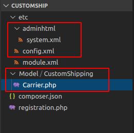 create shipping method