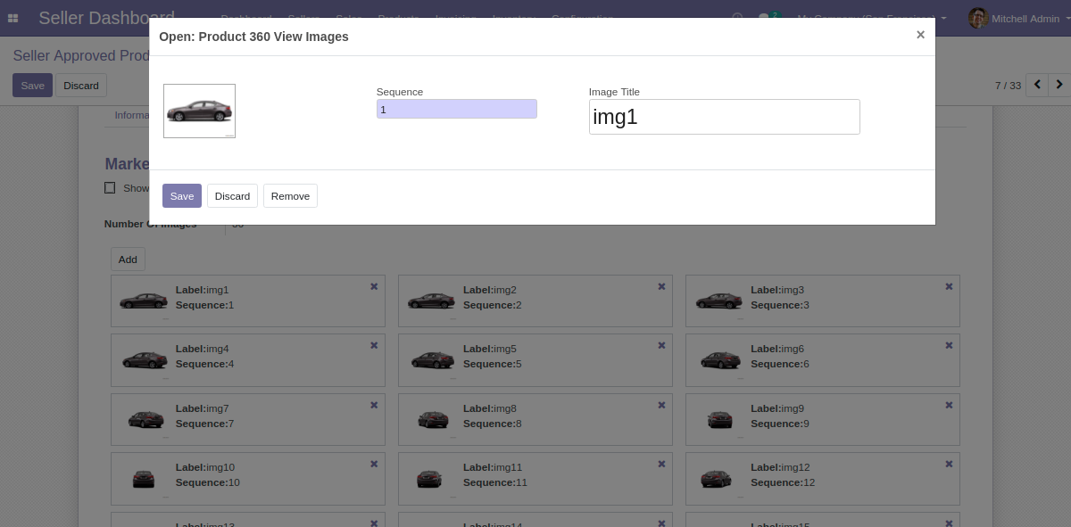 Add images with its sequence