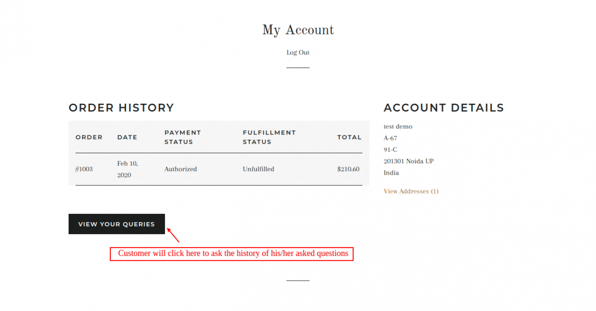 customer my account