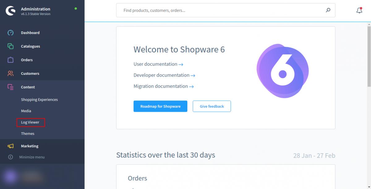 Dashboard-Shopware-administration-1