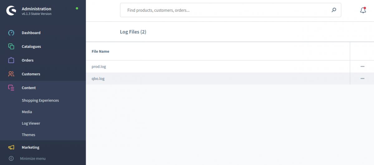 Log-Viewer-Shopware-administration