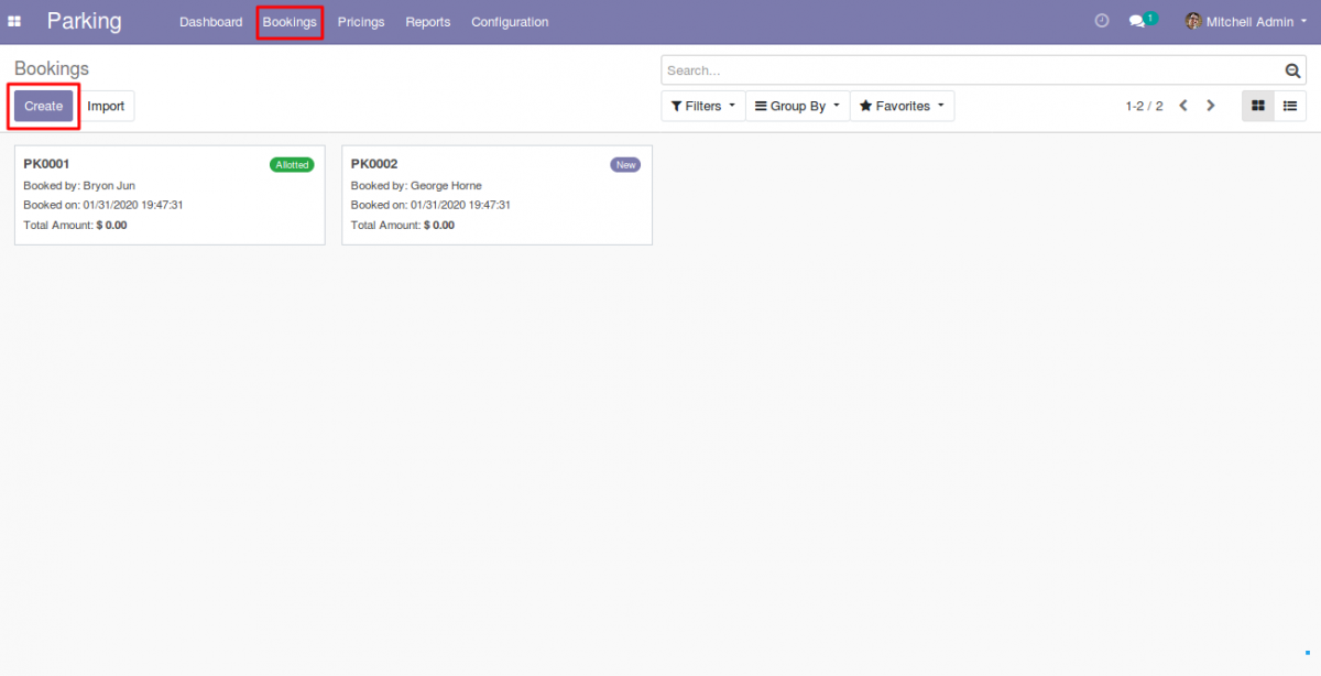 Manage Parking Booking in Odoo 1