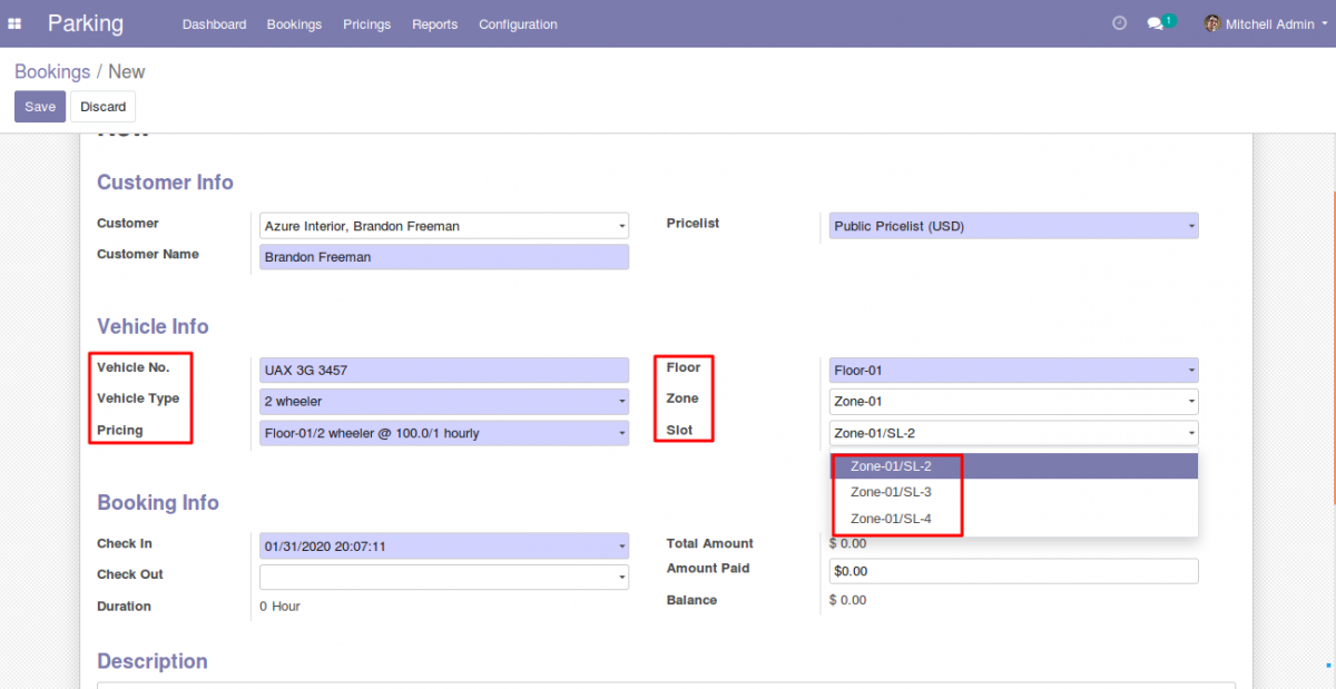 Manage Parking Booking in Odoo 3