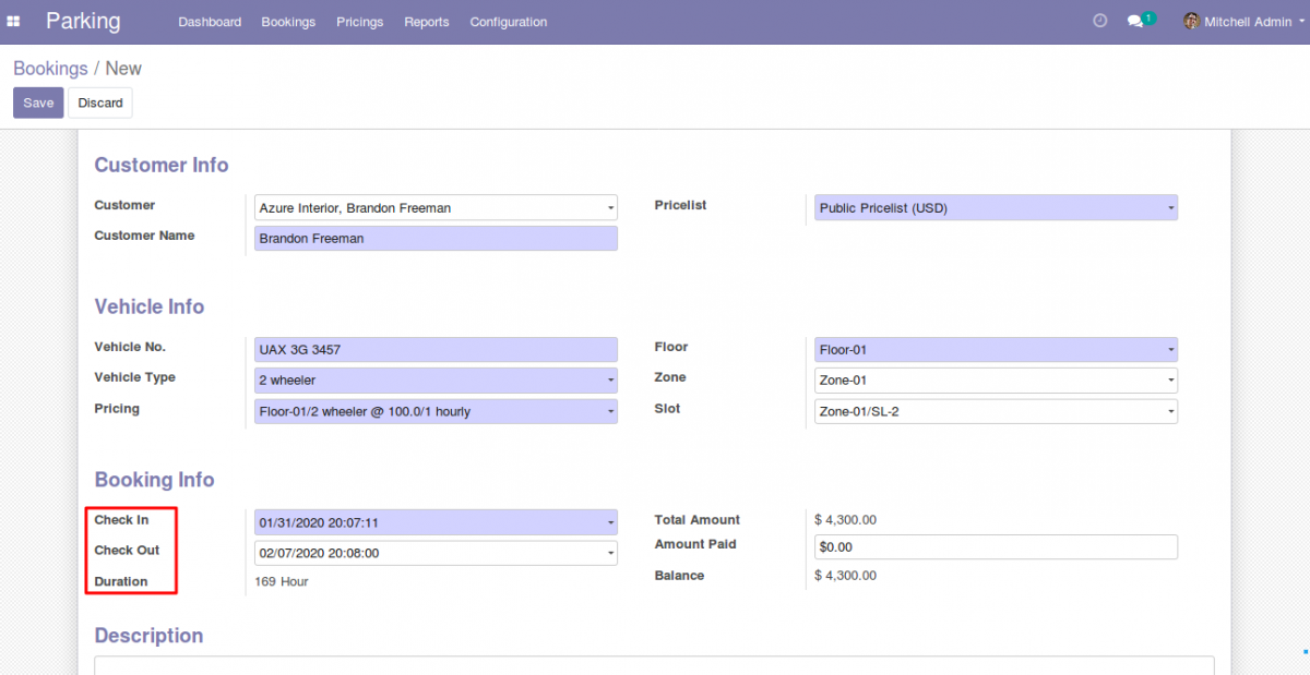 Manage Parking Booking in Odoo 4