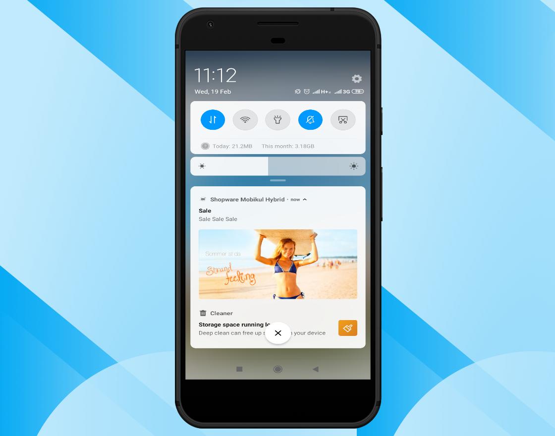 Shopware-hybrid-mobile-notification