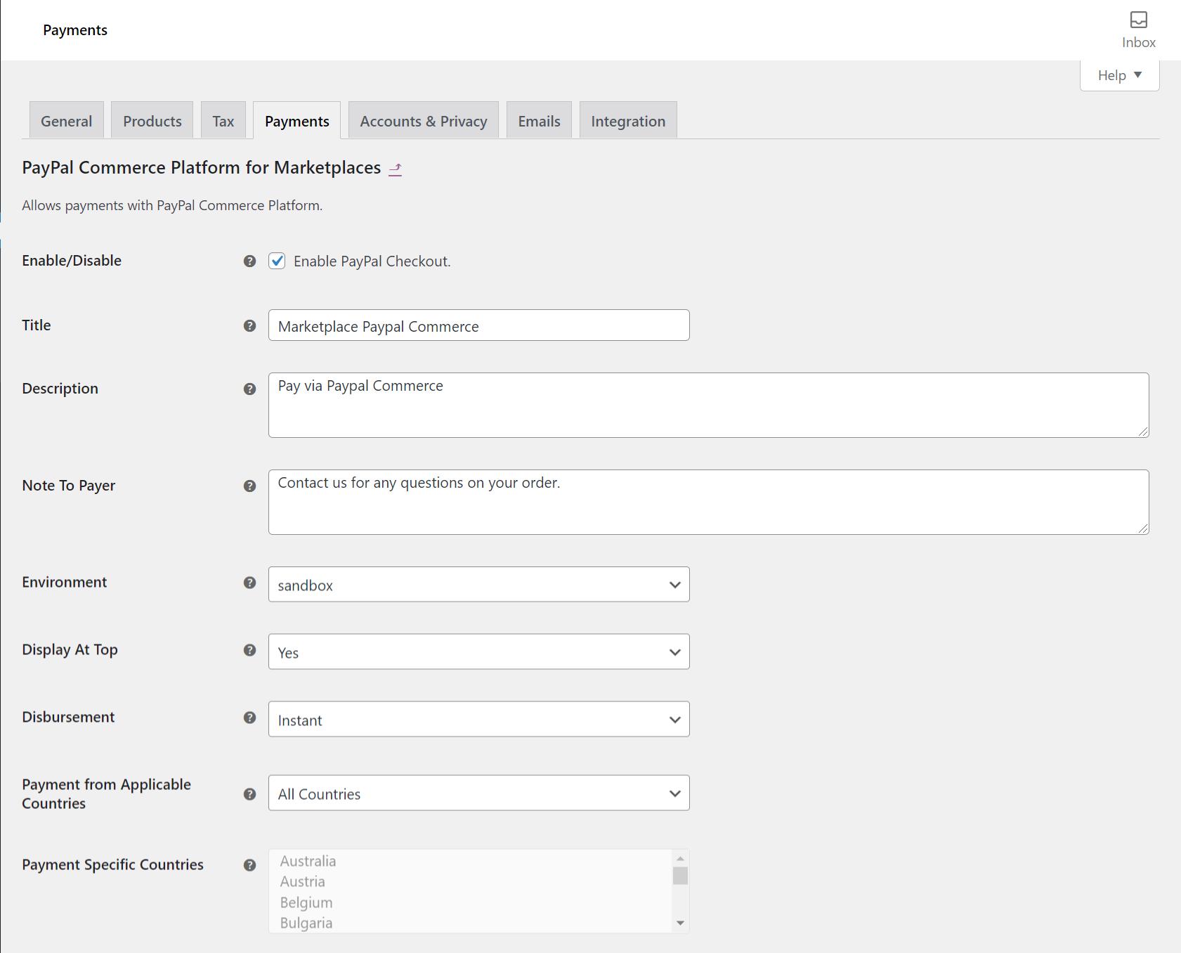 WooCommerce-settings-‹-WooCommerce-MP-PayPal-Commerce